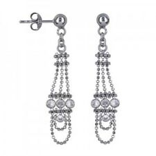 40% SALE Genuine SS Fancy Ball Antique Chandelier Design Drop Earring RRP-$99.95