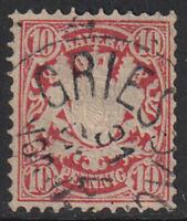(PO1) BAYERN / 1876, 10 pf, Mi#39c - 200 Euro, Used