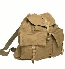 Canvas Beige Retro Army Surplus Rucksack 45 Litre