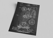 ACEO Bicycle Hentz Patent Blueprint Art Canvas Giclee Print