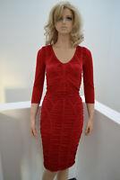 Wolford Tatjana Dress Kleid tango red rot Ruches Small Virgin Wool Merino Wolle