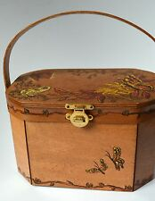 Vintage Butterfly Wooden Box Purse