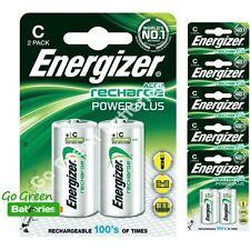 12 x Energizer C 2500 mAh Rechargeable Batteries LR14