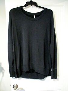 Athlete Womens Black long sleeve Soft Coaster Luxe Sweatshirt Top size XL