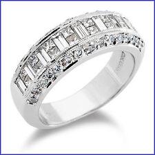 Gregorio: Gorgeous Wide 1.85ctw Diamond Wedding Band G VS PLATINUM