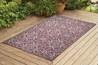 Benissimo Indoor / Outdoor Sisal Area Rug for Garage, Garden Kitchen | Brick