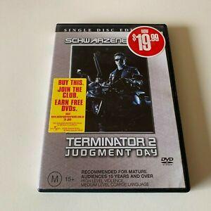 Terminator 2 Two - Judgement Day - Arnold Schwarzenegger - FREE POST DVD
