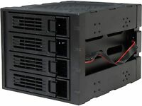 """Rosewill RSV-SATA-Cage-34 Black 3 x 5.25"""" to 4 x 3.5"""" Hard Disk Drive Cage"""