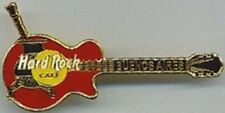 Hard Rock Cafe BUENOS AIRES Red Les Paul Guitar with Black MATE Gold PIN #22491