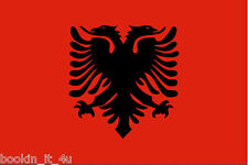 ***ALBANIA ALBANIAN VINYL FLAG DECAL / STICKER***