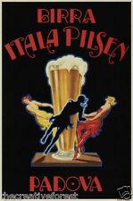 BEER ITALA PILSEN, 1920 Vintage Italian Beer Poster CANVAS ART PRINT 24x36 in.
