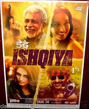 DEDH ISHQIYA (2014) MADHURI DIXIT NASEERUDIN SHAH BOLLYWOOD POSTER # 2
