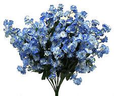 12 Baby's Breath LIGHT BLUE & CREAM Gypsophila Silk Wedding Flowers Centerpieces