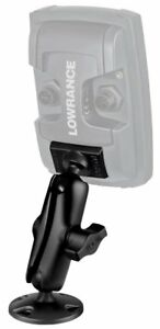 """RAM Composite Mount w/ 1"""" Ball Quick Release for Lowrance Mark-4 & Elite-4"""