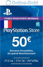 50 EUR Carte PlayStation PSN Network Compte français Code Jeu PS4 PS3 PS Vita FR