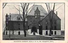 C11/ Mt Pleasant Iowa Ia Postcard 1912 Elizabeth Hershey Hall I.W.U.