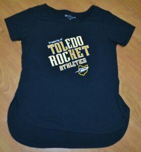 Womens Toledo Rockets Retro Athletics T Shirt XS XSmall OH UT Champion Work Out