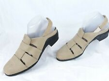 Ariat Leather Sandals Wmn 9.5 M Elastic Heel Strap Tan Fisherman Style MSRP $130