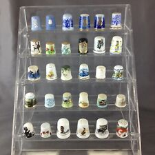 Lot of (30) Vintage Unmarked Porcelain Thimbles - Batch #3