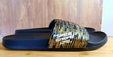 Adidas Adilette Comfort Slide Three Stripe MENS Size 12 Sandal Gold/Black EG7793