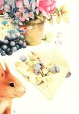 Friendship Bunny Rabbit & Berries Flowers By Marjolein Bastin Hallmark Card