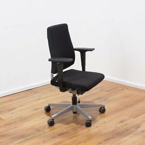 Sedus Black Dot Bürodrehstuhl - Stoff schwarz - Gestell silber