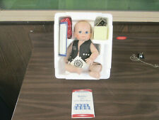"""Franklin Mint Doll - Harley Davidson """"Bobby"""" The Little Biker Baby with extras"""