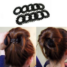 5PC Girl's Black Elastic Rubber Hairband Phone Wire Hair Tie Rope Band Ponytail