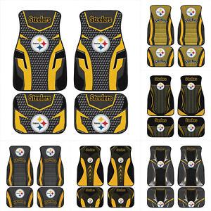 Pittsburgh Steelers 4PCS Car Floor Mat Front Rear All Weather Waterproof Carpet