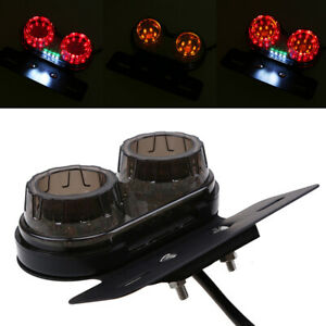 LED Tailight Red Brake License Plate Indicator Amber Turn Signals Fit For Harley