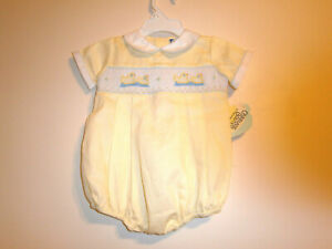 Infant Boy Smocked Carriage Boutiques Outfit, Size 6 months