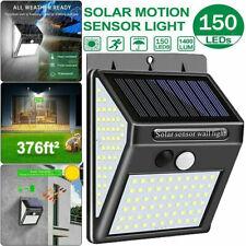 New listing 1Pcs 150Led Solar Power Pir Motion Sensor Wall Light Outdoor Garden Yard Lamp Us