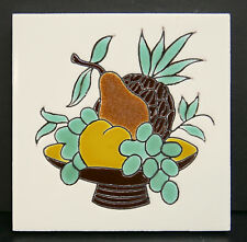 Gladding McBean Fruit Basket Tile Hermosa California