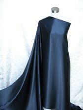 100% Pure Silk Satin Charmeuse Fabric Navy Blue Per Yard