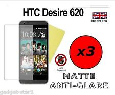 3x Hq Mate Anti Glare Screen Protector Funda Film Protector Para Htc Desire 620