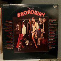 """THIS IS BROADWAY Compilation (VPS-6034) - 12"""" Vinyl Record LP - VG+ (Cheesecake)"""