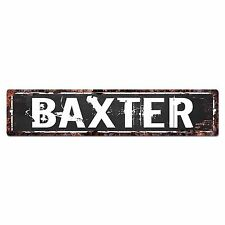 SLND0647 BAXTER Street Chic Sign Home man cave Decor Gift Ideas