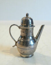 Vintage English Sterling Silver Miniature Teapot, 10 grams