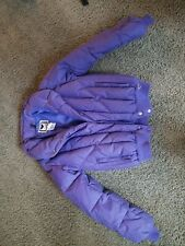 Vintage 70s Obermeyer Purple Ski Snowboard Puffy Down Jacket Womens Size 12 RAD!