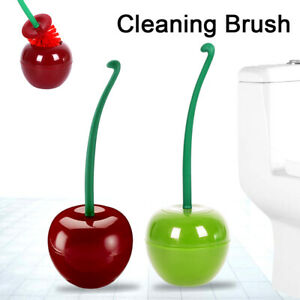 Cherry Shaped Toilet Brush And Holder Set Standing WC Bathroom Cleaning Brush