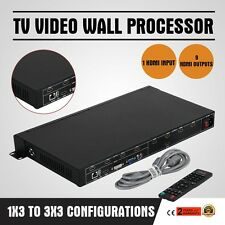 TV 9-Channel Video Wall Processor Controller 3x3 Splitter Switcher HDMI VGA DVI