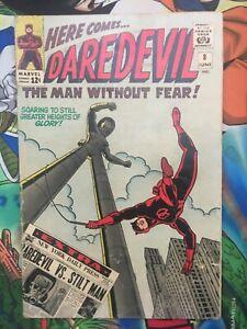Daredevil #8 1st appearance Stiltman appearance VG