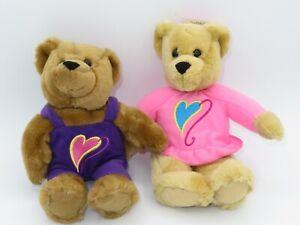 Hallmark Love & Kiss Kiss Bear Plush Valentine's Magnetic Stuffed Animal LOT Toy