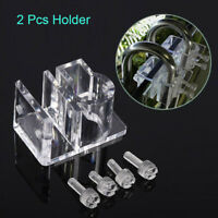2 × Tank Acrylic Pipe Holder Fix Bracket Hook Aquarium Lily Co2 Pipe Accessory