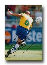 ROBERTO CARLOS HAND SIGNED 12x8 PHOTO - BRAZIL - FOOTBALL AUTOGRAPH 1.