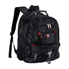 Business Rucksack schwarz Schulrucksack Daypack Laptopfach wasserabweisend Reise