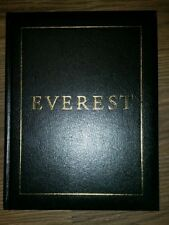 EVEREST National Geographic Broughton Coburn Tim Cahill HC Leather Bound Gilt