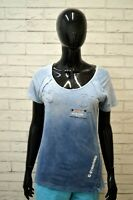 Maglia Blu Donna G-STAR Taglia L Blusa Polo Manica Corta Cotone Elastico Shirt
