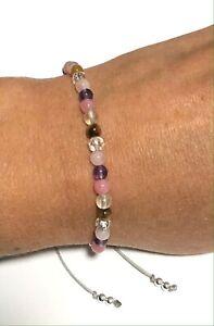Just Gemstones Emotional Positivity Energy Holistic Healing Bracelet Adjustable