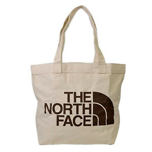 The North Face - Cotton Tote bag - Weimaraner Brown Large Logo Print